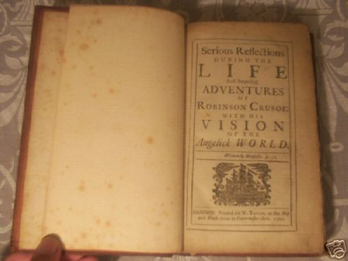 Image for SERIOUS REFLECTIONS OF ROBINSON CRUSOE
