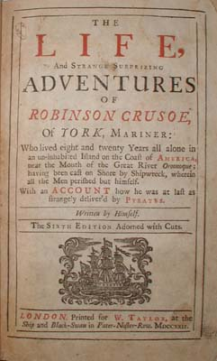 Image for THE LIFE AND STRANGE SURPRISING ADVENTURES OF ROBINSON CRUSOE (VOLUME I OF 2) AND